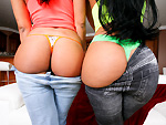 Pic of Luna Star in assparade episode: Big Cuban asses