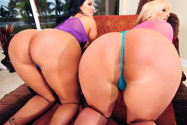 Ass Parade &#8211; Julie Cash, Kiara Marie &#8211; Two Huge Asses Pounded