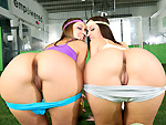 assparade: Two amazing asses both get drilled on the field