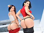assparade: Two hot big butt Latina girls have a threesome