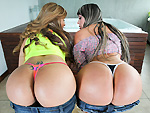 Pic of Sandra in assparade episode: Two Huge Asses From Colombia get Fucked!