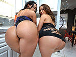 Pic of Assparade in Stunning Big Booty Latina Lesbian Threeway