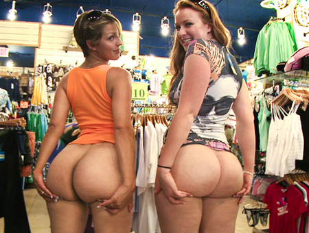 Kelsey Michaels, & Alina Aldamen's Lucky Shopper Ass Parade