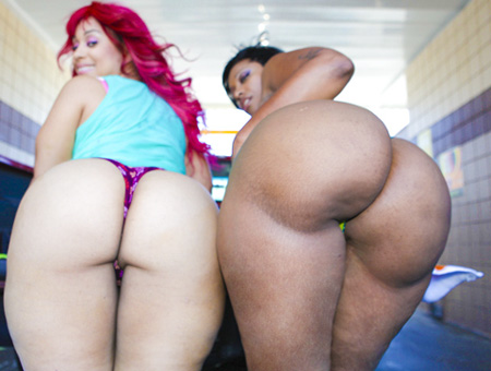At The Car Wash W/ Cherokee & Pinky! Ass Parade