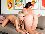 Pic of Gracie Glam in assparade episode: Bree Olson & Gracie Glam in Yo-Face!