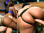 Pic of Assparade in Ten Pin Ass Hammer w/ Bella & Jayla Foxx