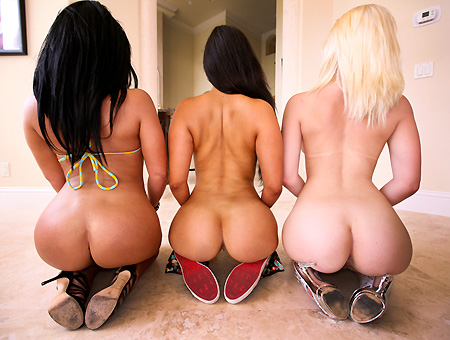 Three Huge Asses Get Pounded  Ass Parade