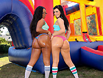 Pic of Assparade in Stuffing Two Giant Asses