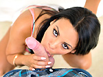 bigmouthfuls: Pretty Latina girl loves the taste of cum and swallows