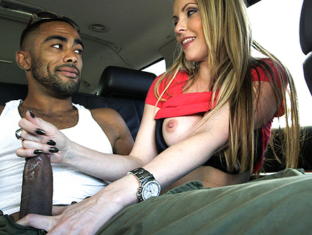 Blonde Slut Swallows An Interracial Load Big Mouthfuls