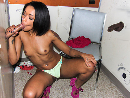 Black girl glory hole cumshot