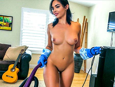 Hot Maid Polishes Knobs Selena Santana