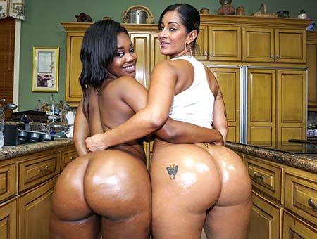 Double the hot huge asses