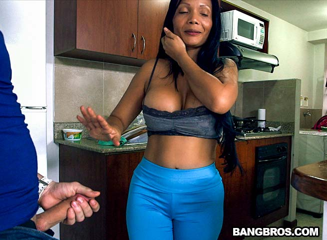Latina stepmilf maid