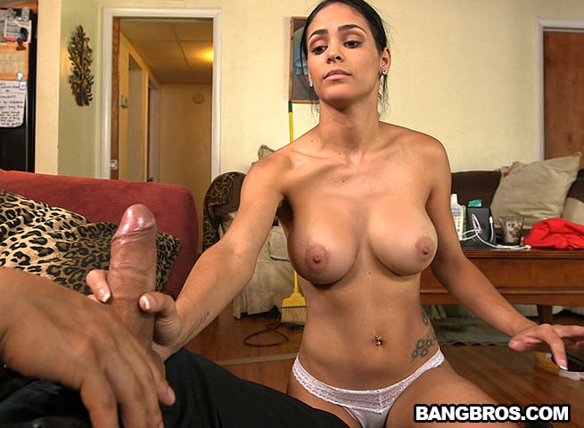 Natural tits latino getting fucked