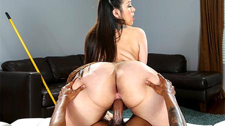 Maid With a Giant Booty Rides Cock