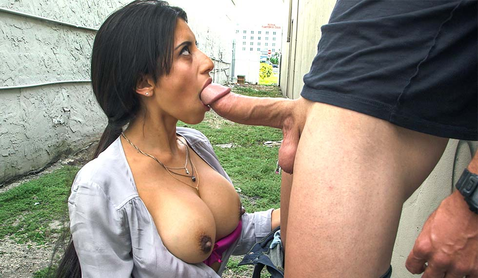 Latina big tits sucks, bottomless girls video