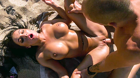 Honey Demon Fucks Hard on the Beach